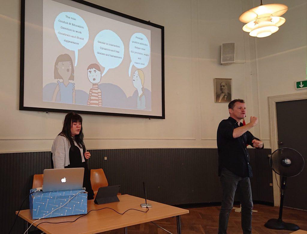 Katariina Valentin giving a presentation